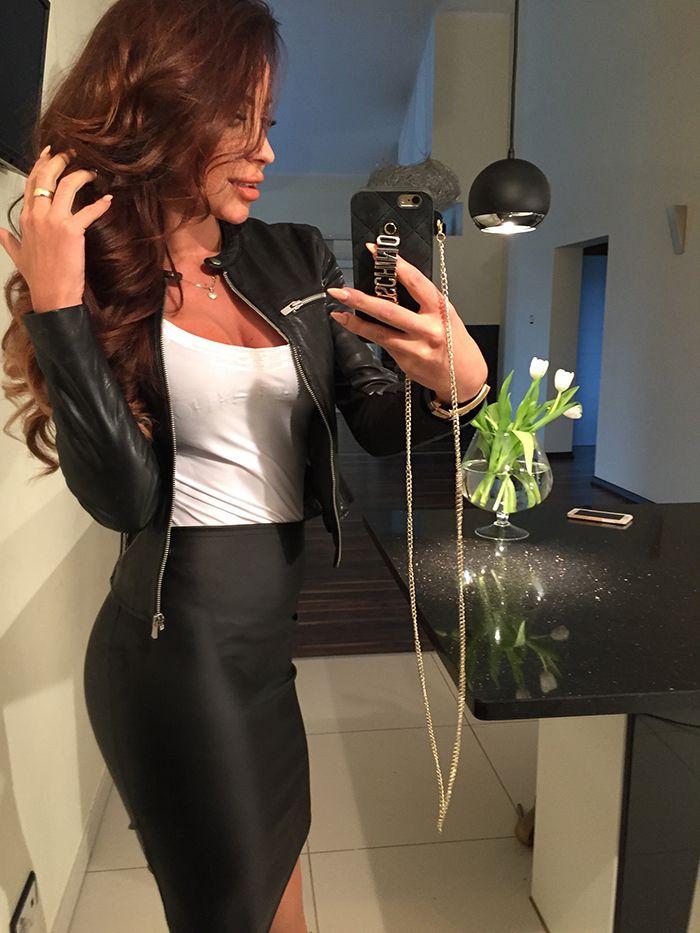 Spodnica Spodniczka Eko Skora Midi Dopasowana M901 5916049085 Oficjalne Archiwum Allegro Fashion Skirts Leather Skirt