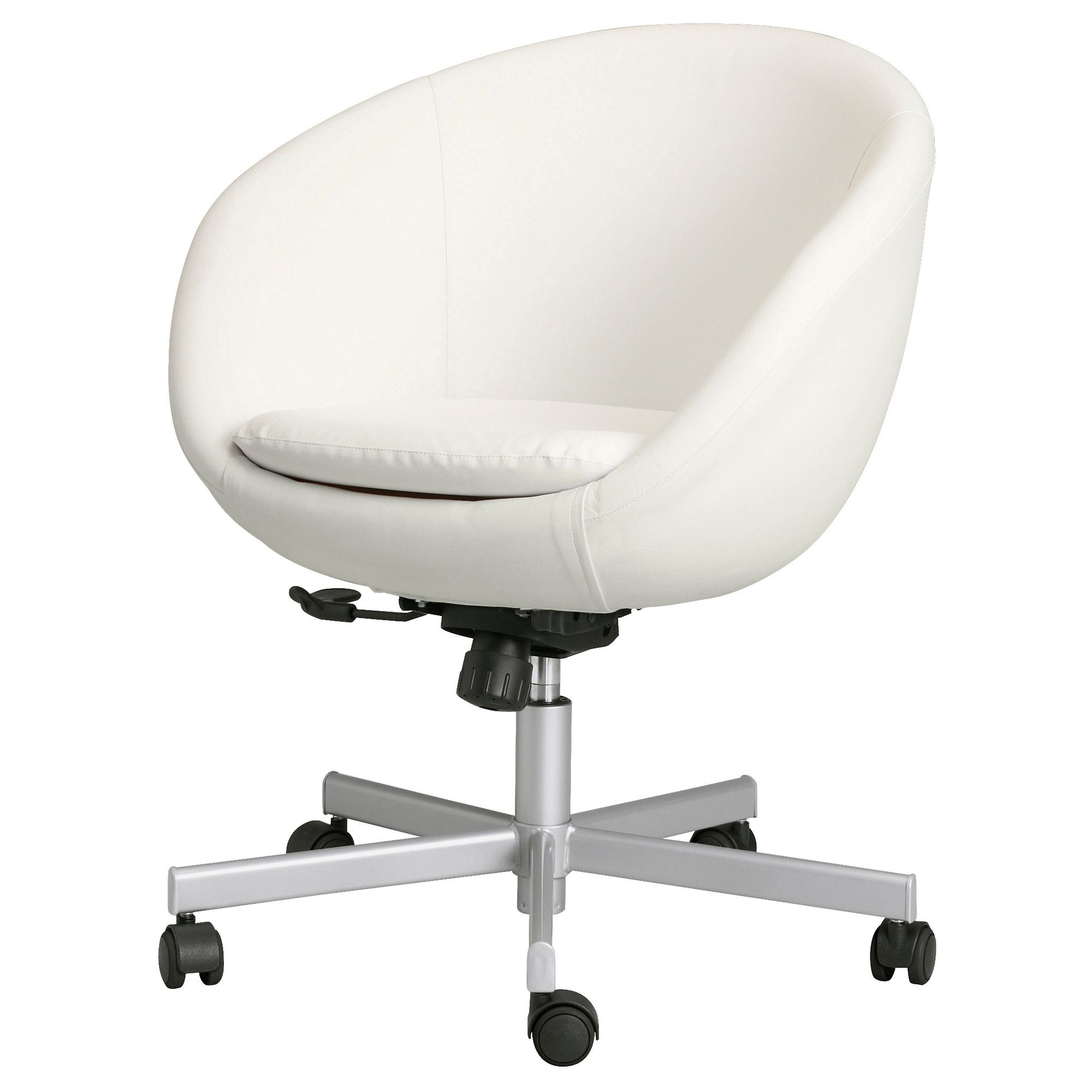 SKRUVSTA Swivel chair Idhult white IKEA Key features
