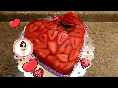 Gelatina Corazón De Fresa San Valentín Día De Amor Y