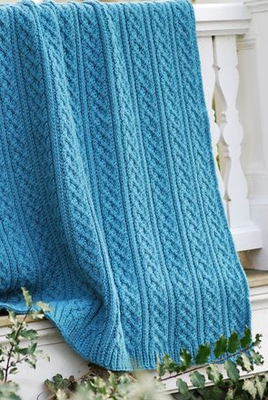 Cozy Cable And Rib Afghan Loom Knit Pinterest Afghans Cable