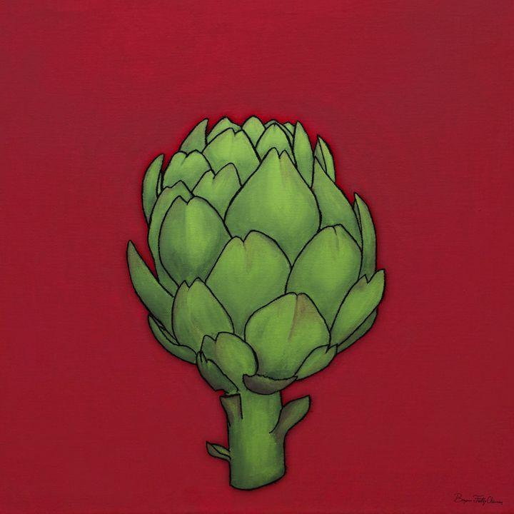 Art-ichoke - MissFitz - Paintings & Prints Food & Beverage Vegetables Artichokes - ArtPal | ArtPal thumbnail