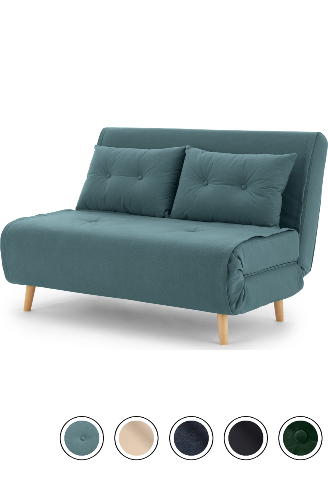 Made Sherbet Blue Sofa Bed In 2020 Small Grey Sofa Sofa Bed For