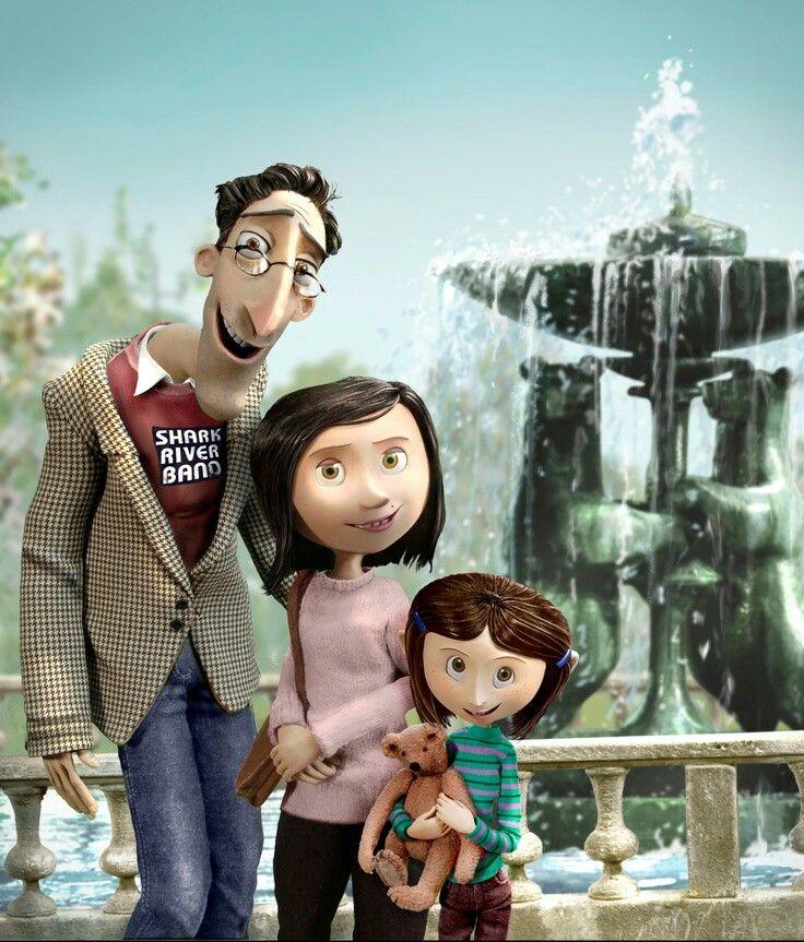 Como Eu Amo Esse Filme 3 Fotografia Da Coraline E Seus Pais Rara