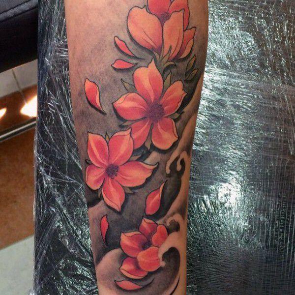 Mejores 125 Mejores Tatuajes De Flor De Cerezo De 2018 Tatuajes De Flor De Cerezo Tatuajes Chiquitos Tatuajes De Flores