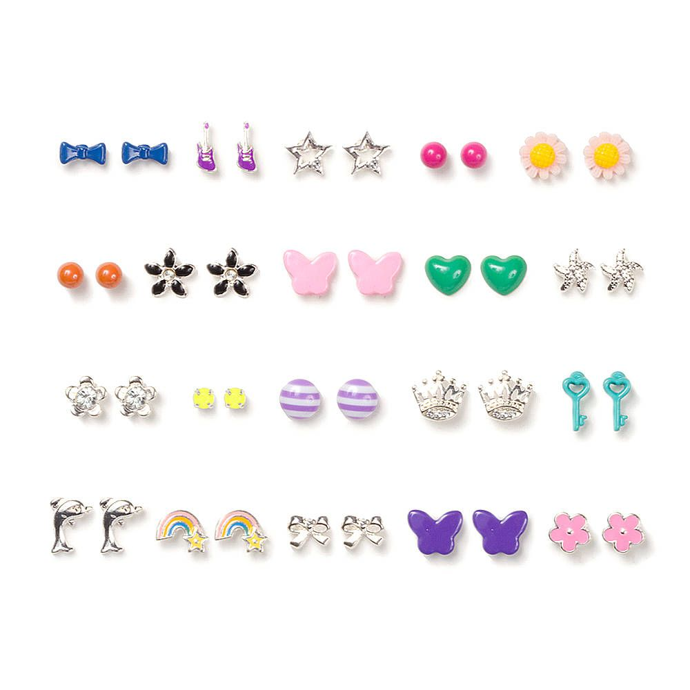 Orted Bright And Fun Stud Earrings Set Of 20 Claire S