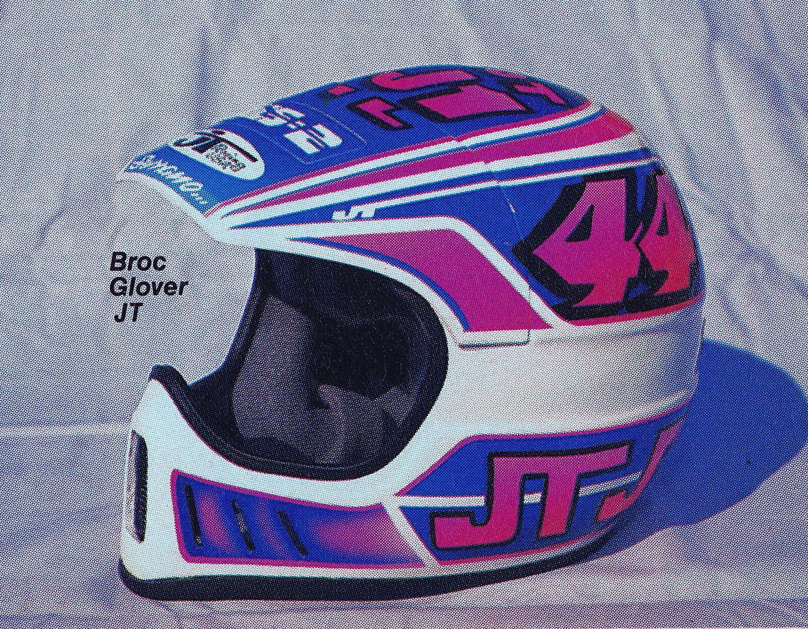 1988 Serrano Painted Jt Racing Als Helmet Of Broc Glover Helmet Vintage Motocross Helmet Design