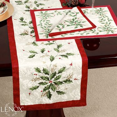 Lenox Holiday Table Runner Holiday Table Linens Holiday Table