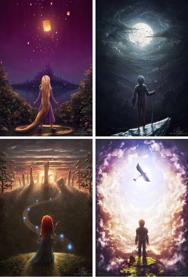 Rapunzel - Jack - Merida - Hiccup