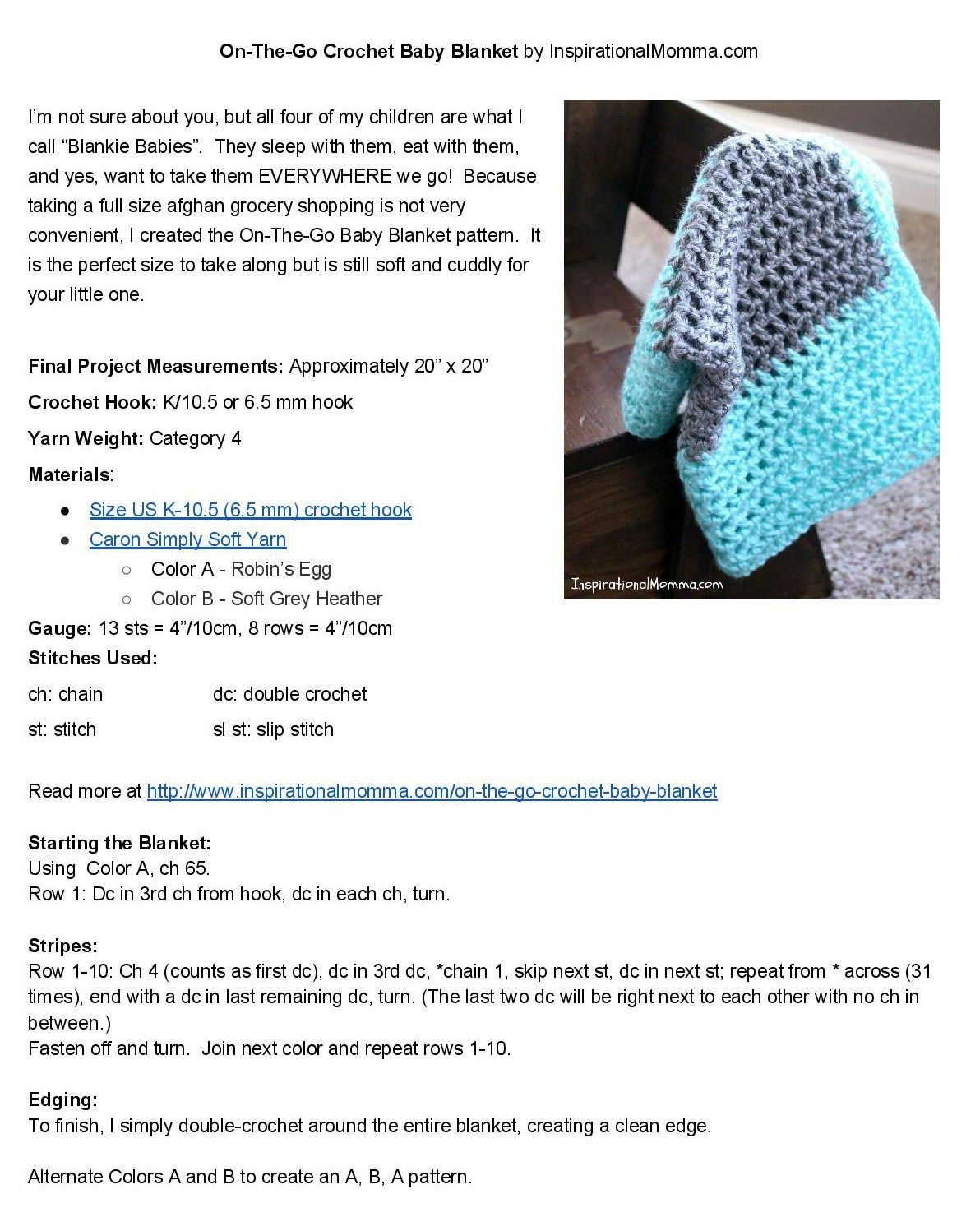 On-The-Go Crochet Baby Blanket | Tejido