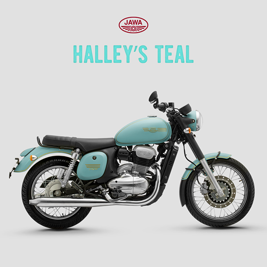 The Jawa Forty Two Halley S Teal Matte Variant New Chapter