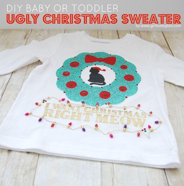 2e6090a3a DIY Baby or Toddler Ugly Christmas Sweater Toddler Ugly Christmas Sweater, Toddler  Sweater, Toddler