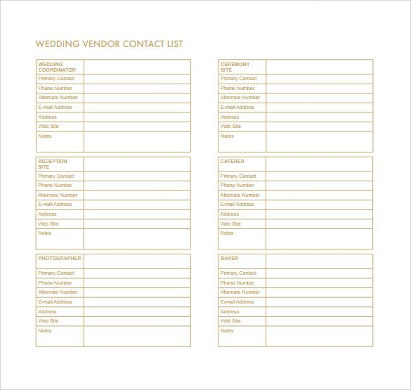 Contacts List Template Amazing 10 Contact List Template  Word Excel & Pdf Templates  Www .