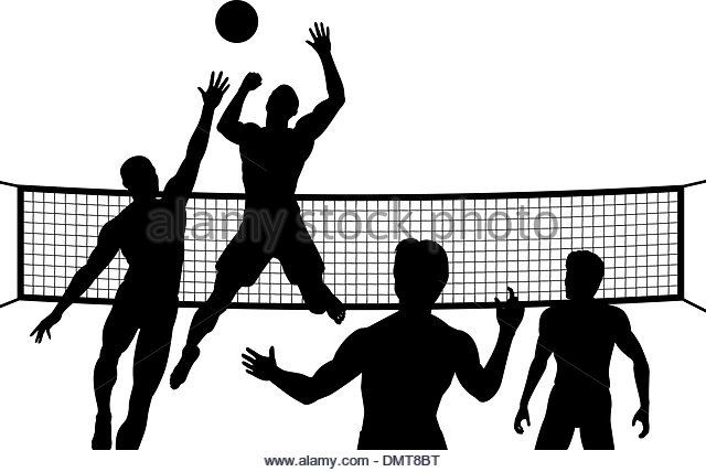 Smash Stock Image Volleyball Silhouette Mens Volleyball Volleyball