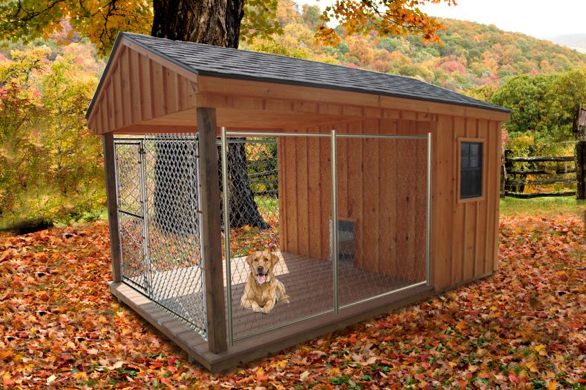 8 x 14 dog kennel inside is insulated can get a heated for Outside covered dog kennels