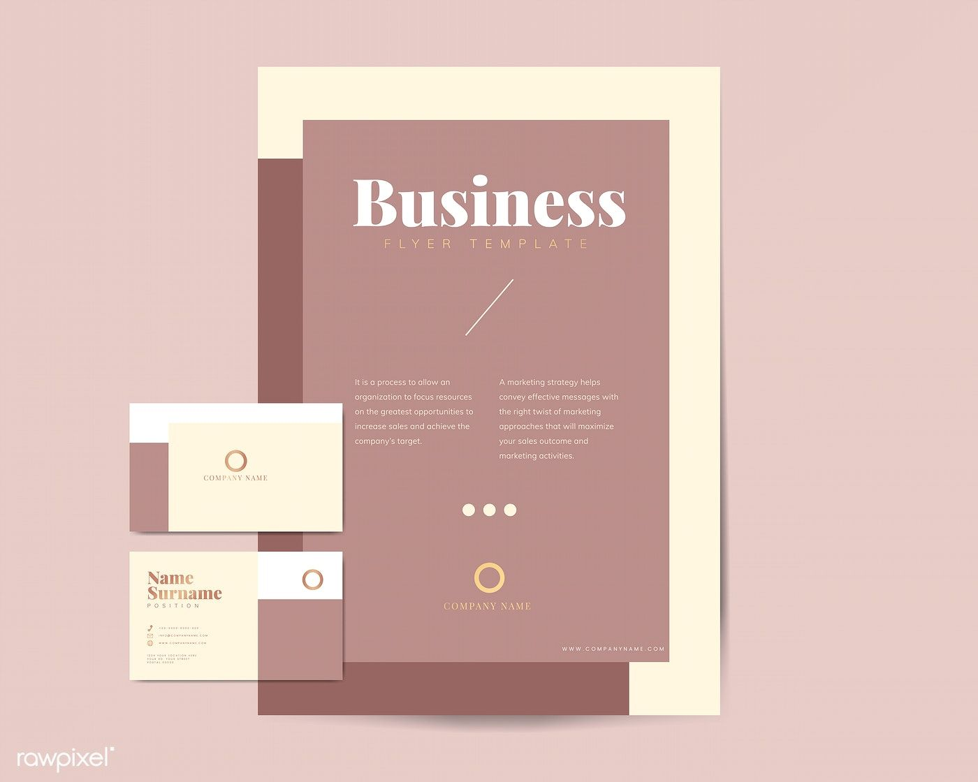 Corporate Flyer And Name Card Template Vectors Free Image By Rawpixel Com Tvzsu Corporate Flyer Vector Free Card Template