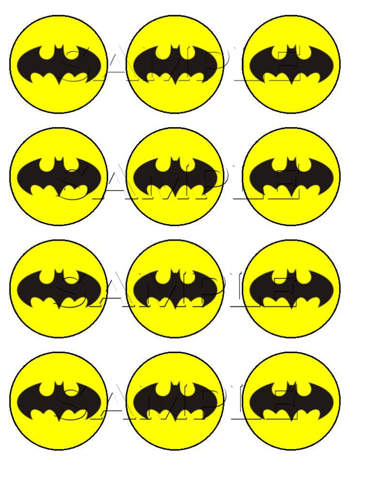 Batman edible cupcake toppers 600 via etsy bryces batman batman edible cupcake toppers 600 via etsy pronofoot35fo Choice Image