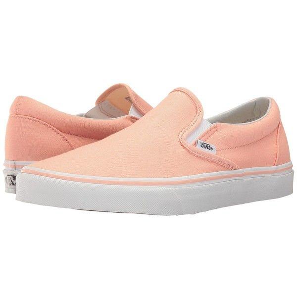 Vans Classic Slip On (Tropical PeachTrue White) Skate Shoes