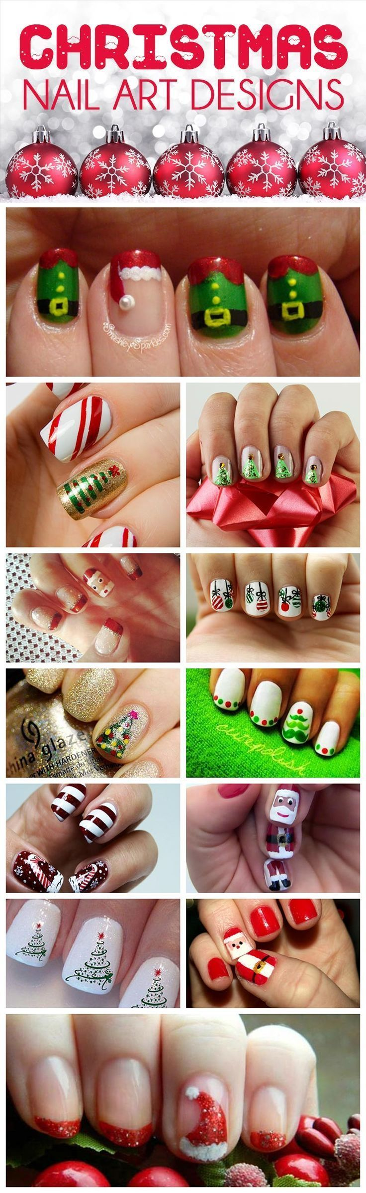 20 Fabulous and Easy DIY Christmas Nail Art Design Tutorials - Nagel ...