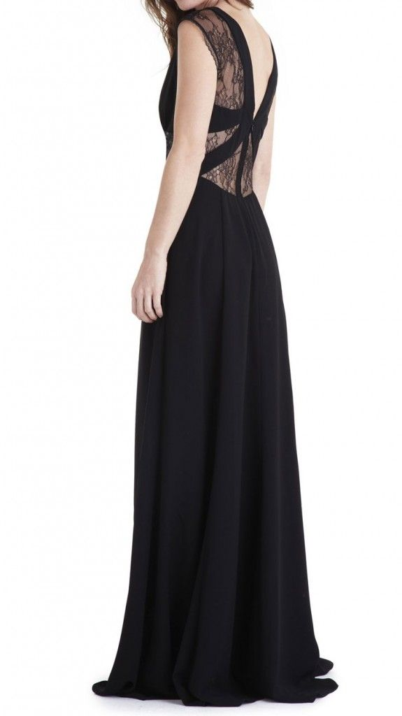 robe longue cocktail manoukian noir