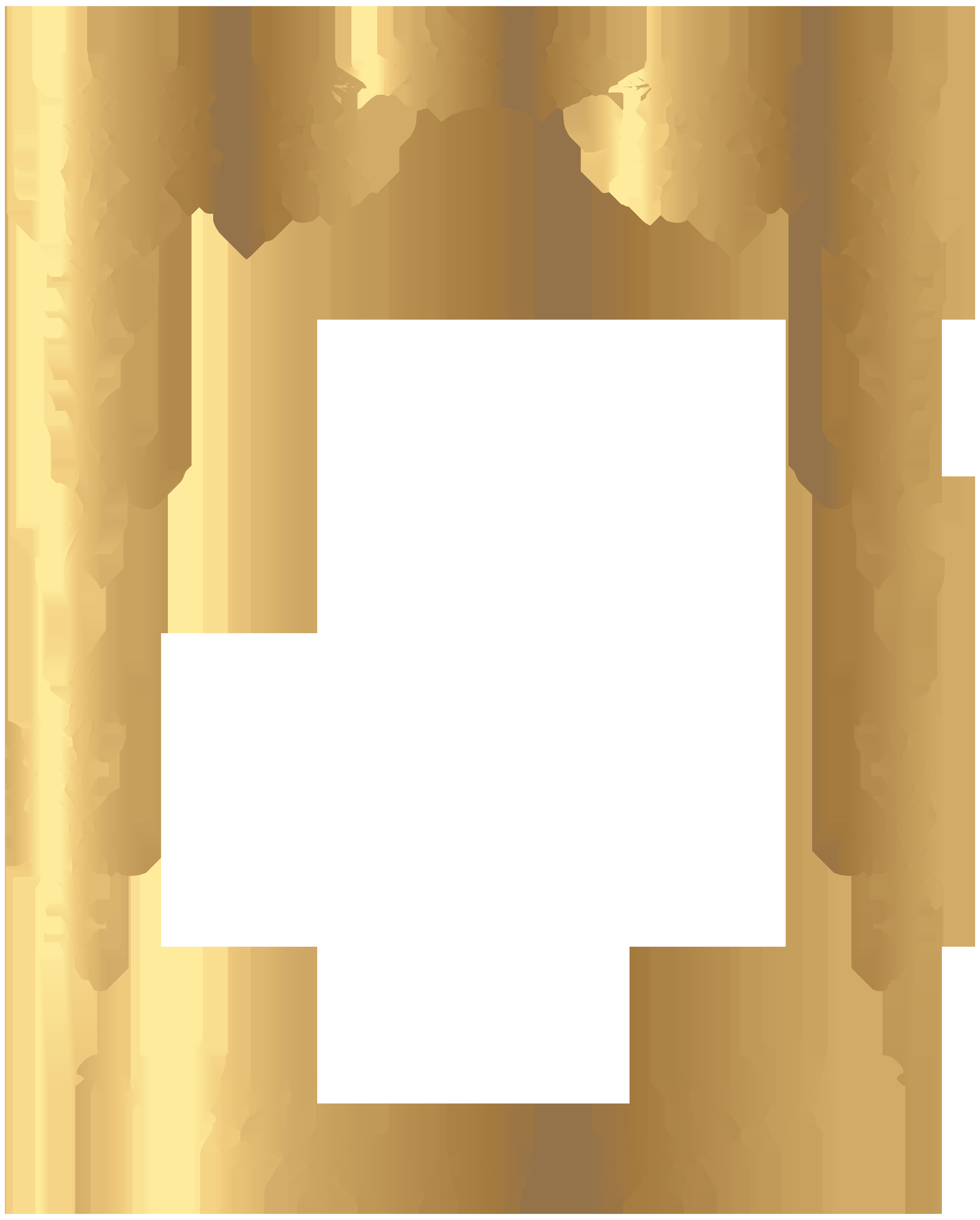 Decorative Rose Frame PNG Clip Art Image | B&F-Goldy | Pinterest ...