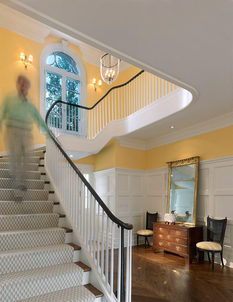Gracious staircase in Georgian style home, Washington, DC ...