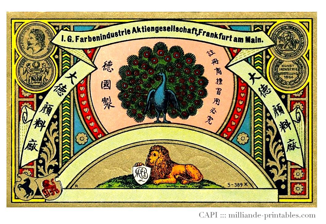 Free Printable Label - Vintage Advertising Memorabilia This is a chinese inspired vintage label design with lots of ornamental flourishes.