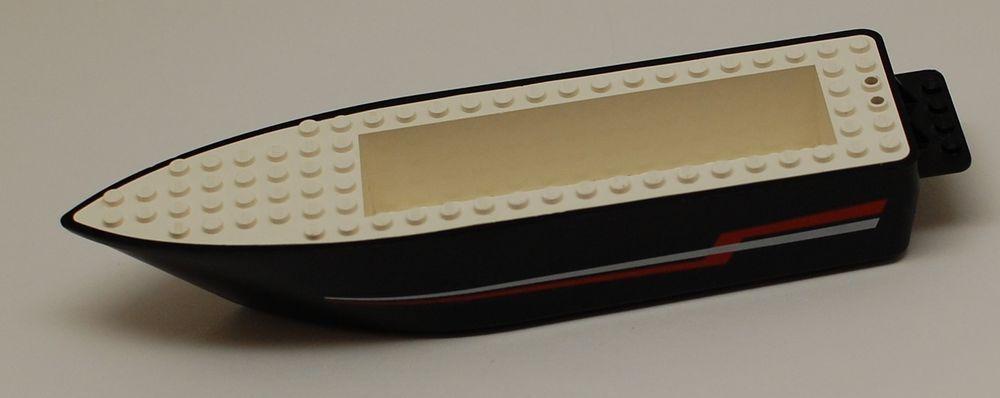 Lego Riptide Racer #4002 Hull Only Speed Boat Black White 6×24 ...