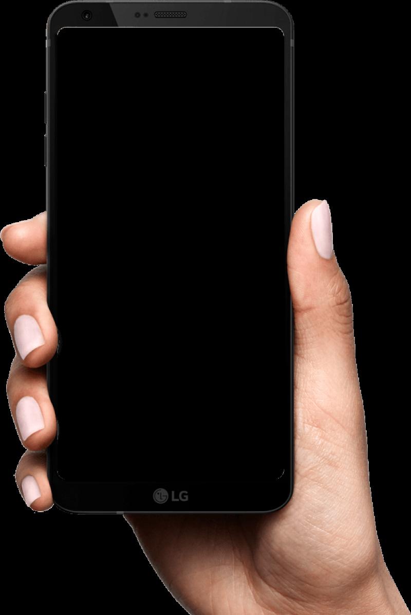 Phone In Hand Png Image Bingkai Bingkai Foto Desain Grafis