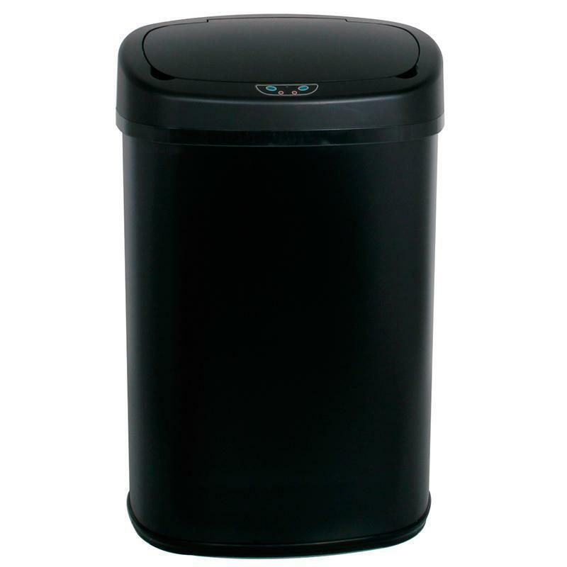 13 Gallon Automatic Touch Free Motion Sensor Trash Can White