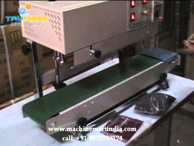 continuous band sealer, bag sealing machine, nitrogen