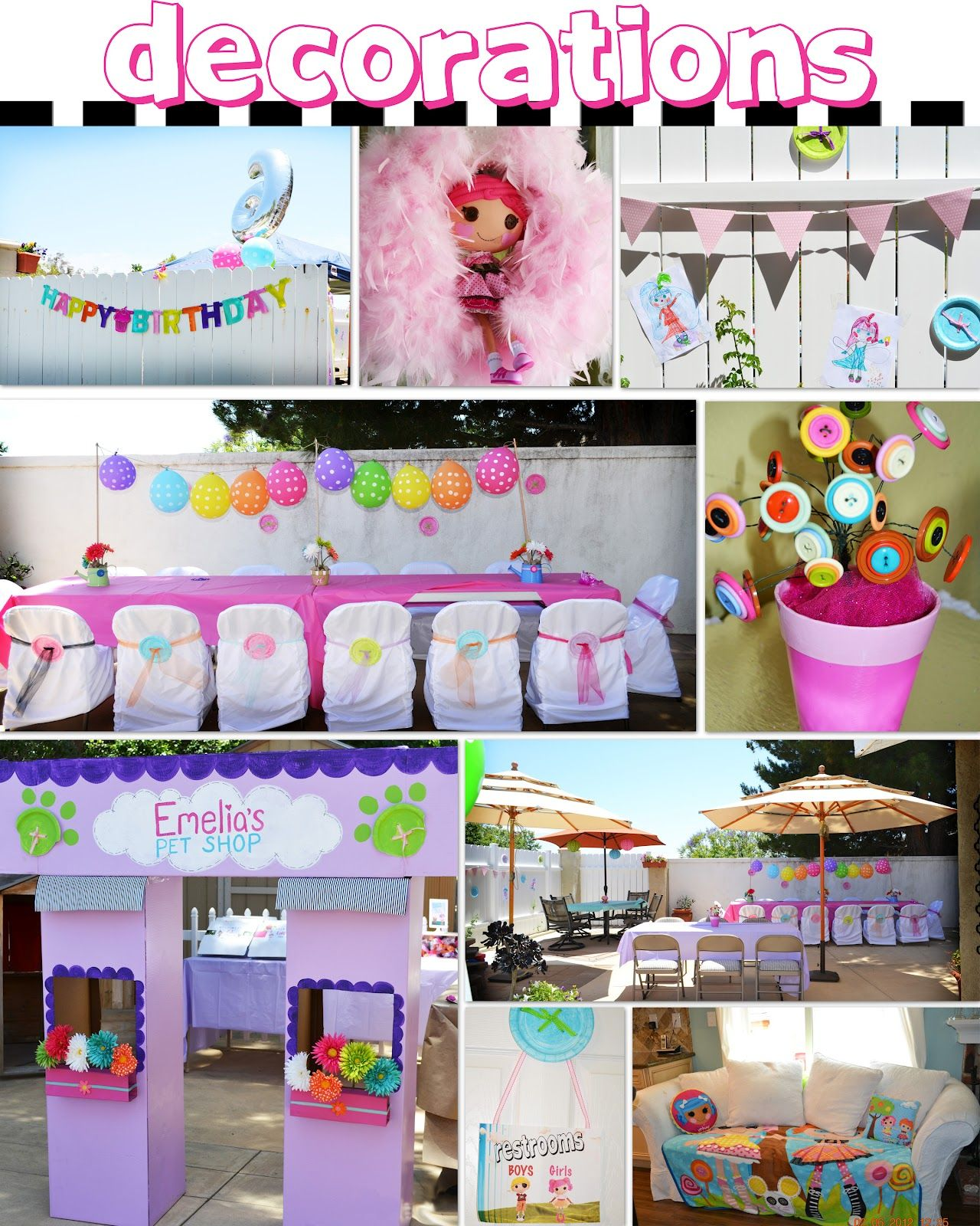 Creatively Quirky at Home Emelia s 6th Birthday a Lalaloopsy Pet