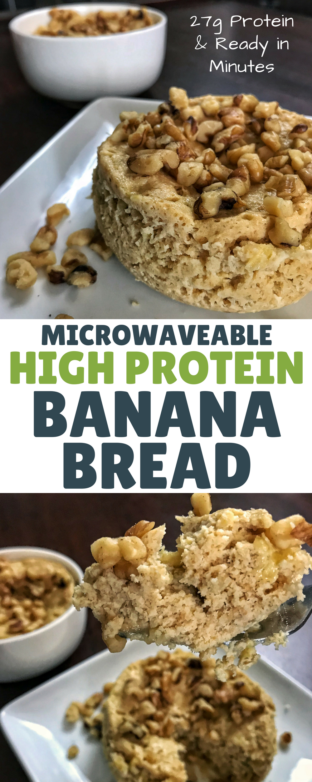With 27 Grams Of Protein And Only 5 Ingredients, This Microwaveable High  Protein Banana Bread