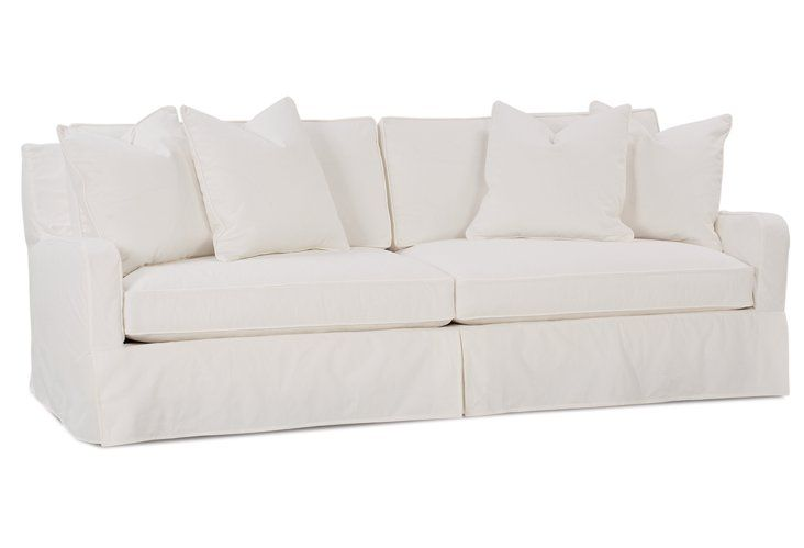 This white linen slipcover sofa is beautiful comfortable for White linen sectional sofa