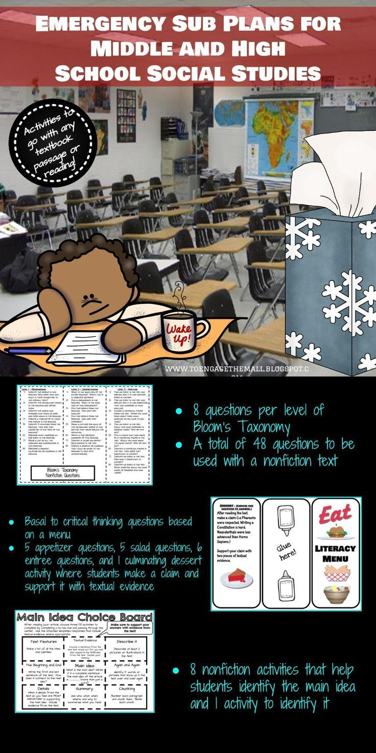Poster design high school lesson - Emergency Sub Plans For Middle And High School Social Studies