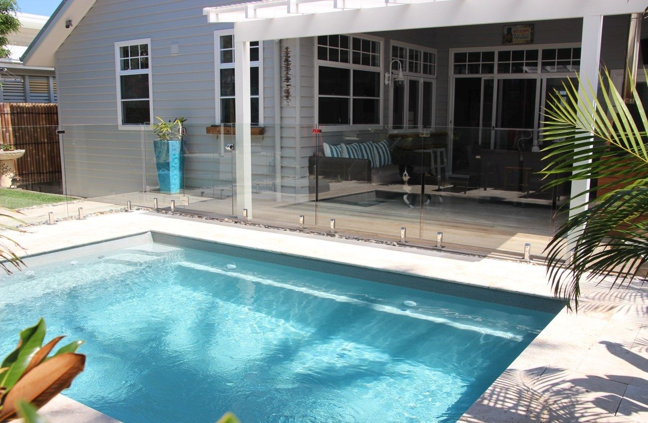 Our small swimming pools are designed for smaller areas