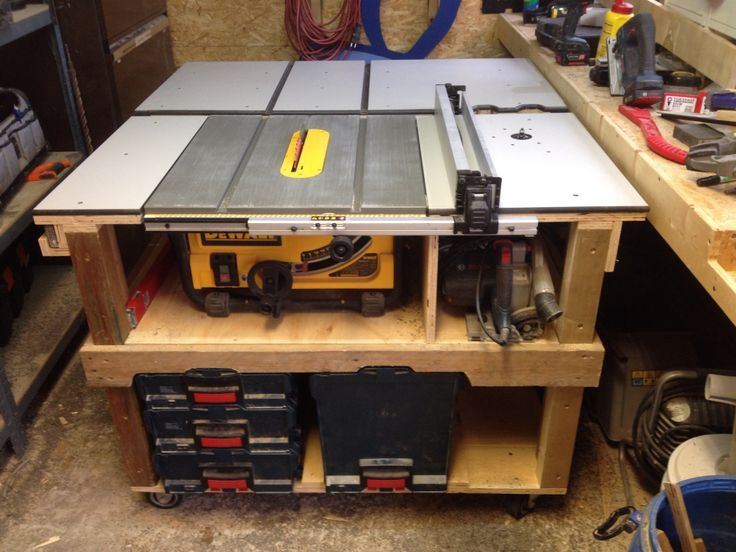 Dewalt Dw745 Station Google Zoeken Table Saw Workbench Table Saw Station Table Saw