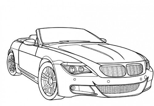 Racing Car Bmw M6 Coloring Page