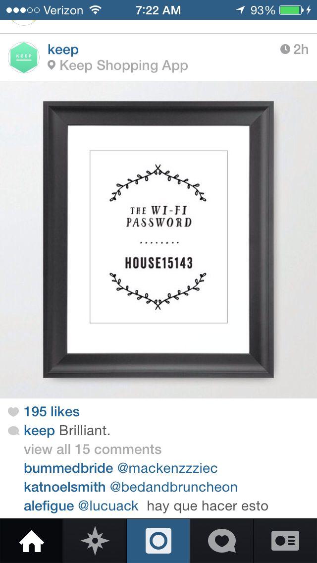 Wifi password art