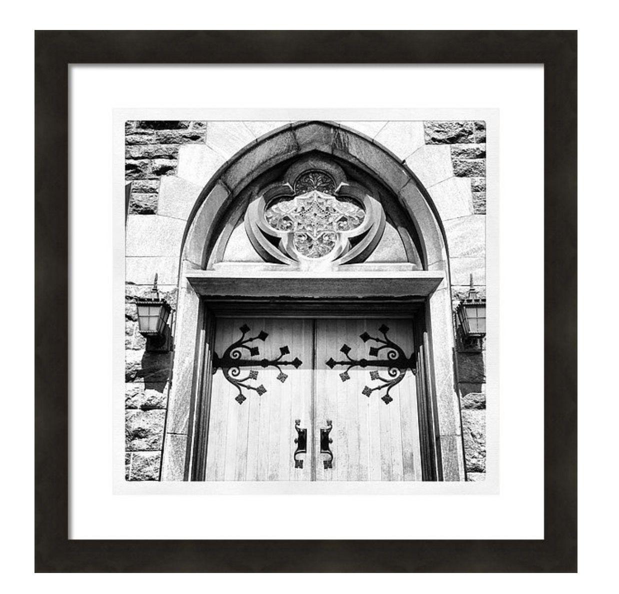 Heaven\'s Door 16X16 black & white print on white mat and classic ...
