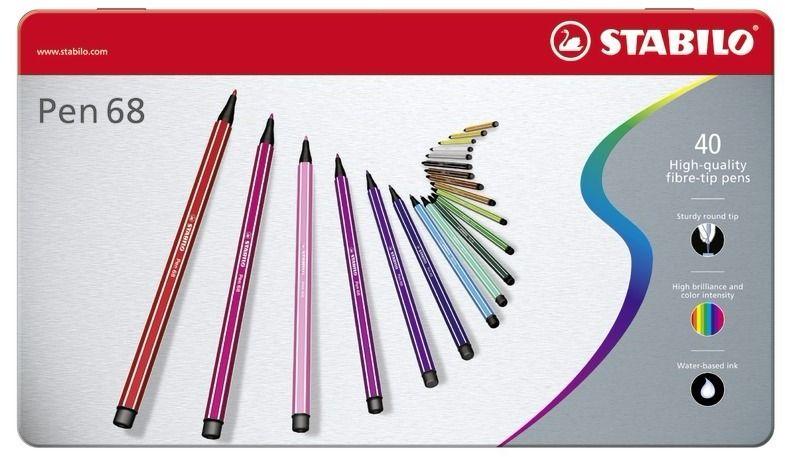 Pen 68 40 Couleurs Stabilo Coloriage Anti Stress Coloriage