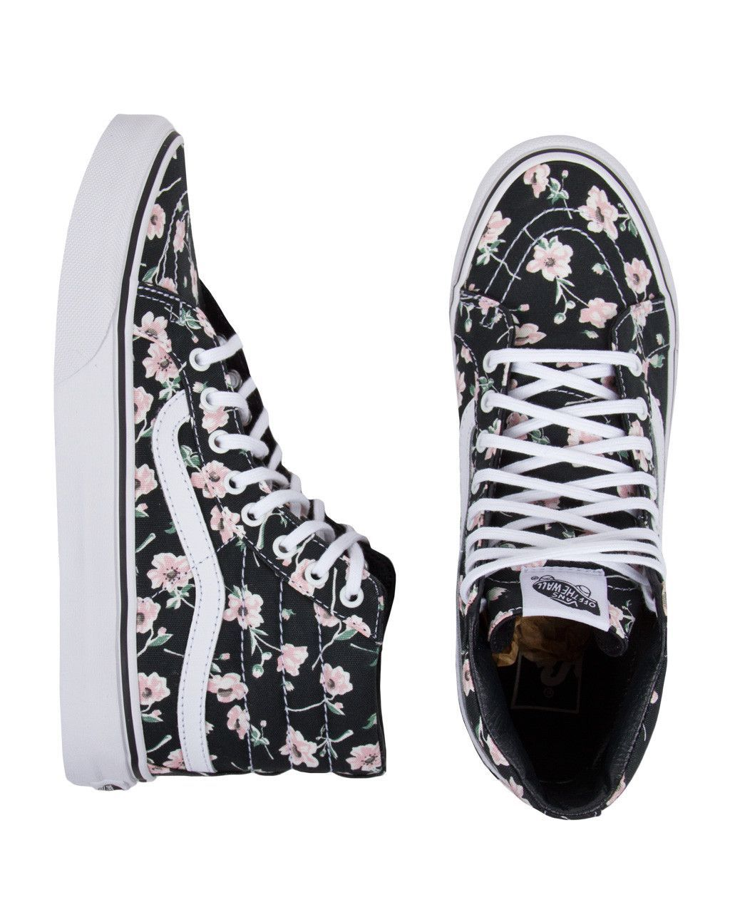 Vans Sk8 Hi Slim Vintage Floral Shoes Visit Www Thelafashion Com