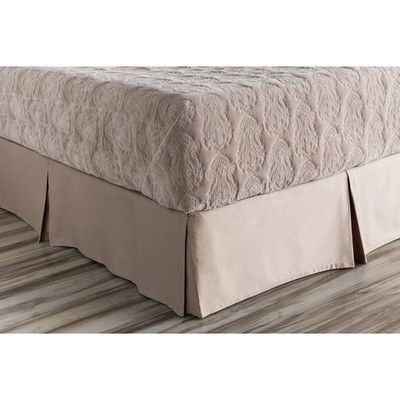 Darby Home Co Jewett Bed Skirt Color: Neutral, Size: California King