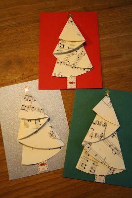 Mijn Tijdverdrijf Kerstbomen Vouwen Nieuwjaarsbrief Christmas