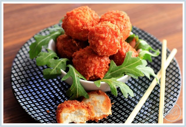 Buffalo Fried Goat Cheese- the perfect Super Bowl snack!!