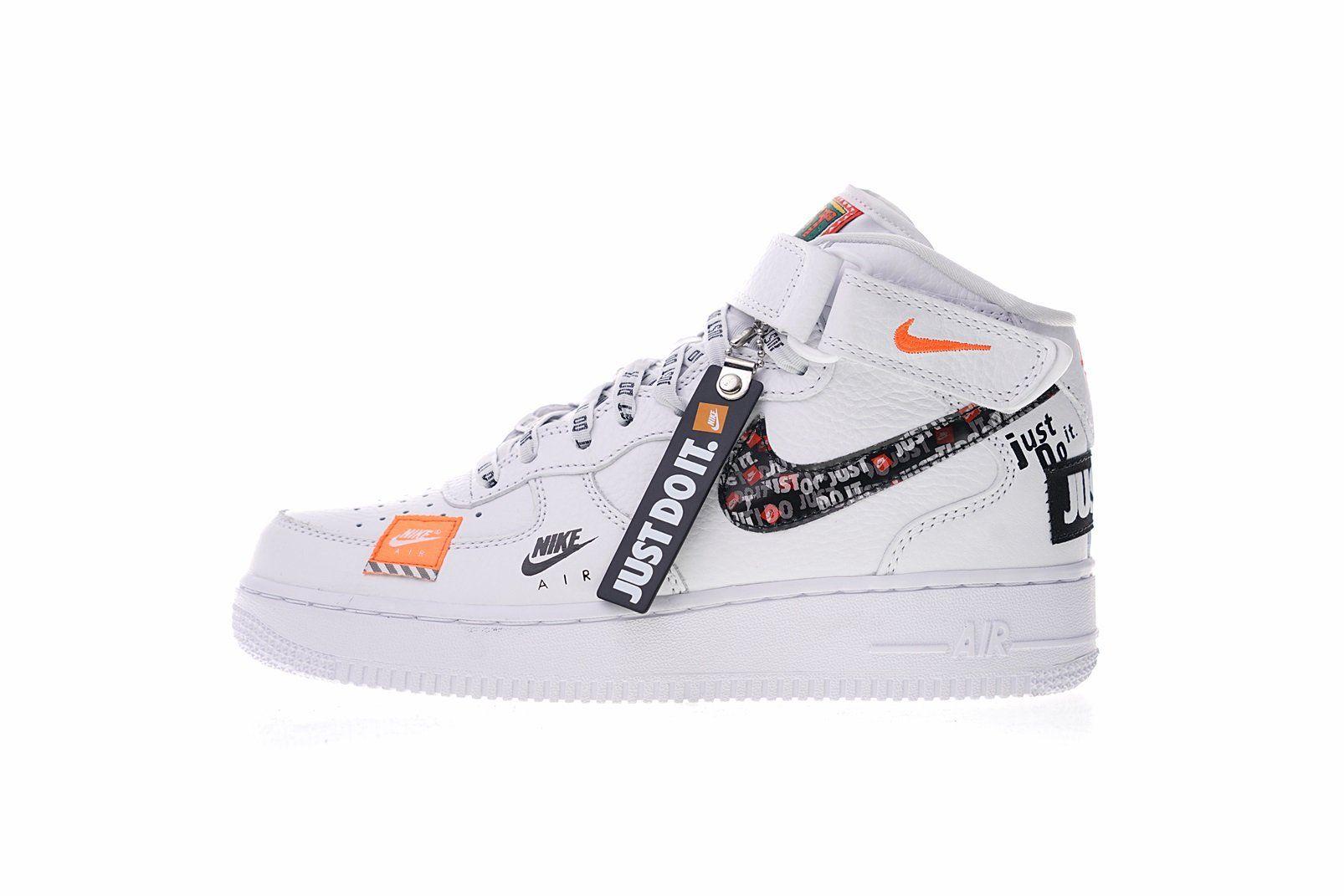 Nike Air Force 1 Mid Just Do It Aq8650 100 Nike Air Force High Fresh Shoes Nike Air