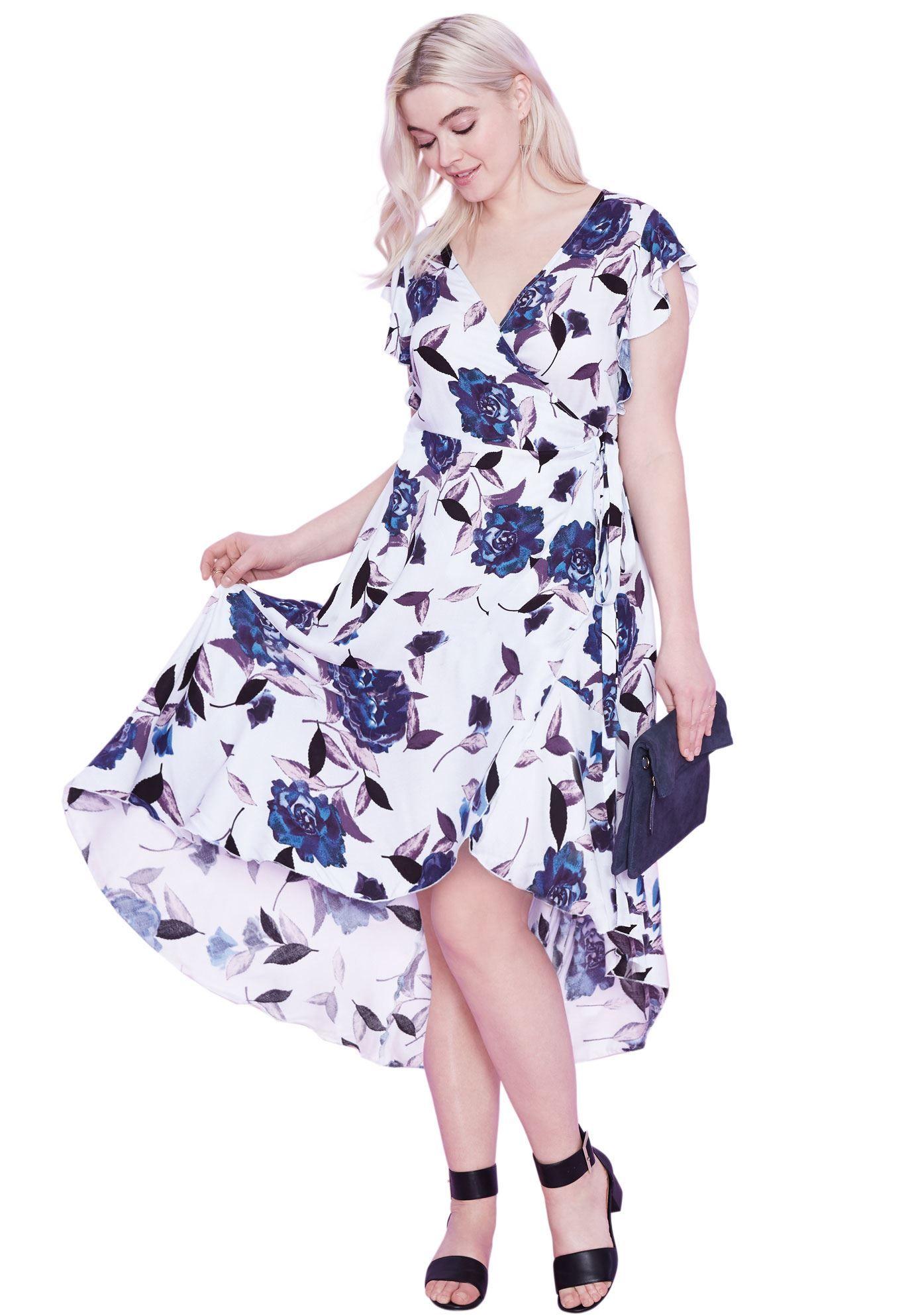 86190d4c2c7ad Primrose Wrap dress by ellos - Women s Plus Size Clothing