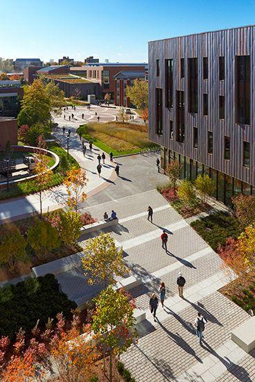 Stephen Stimson Associates University Of Connecticut Campus Landscape Landscape Plaza Landscape Design