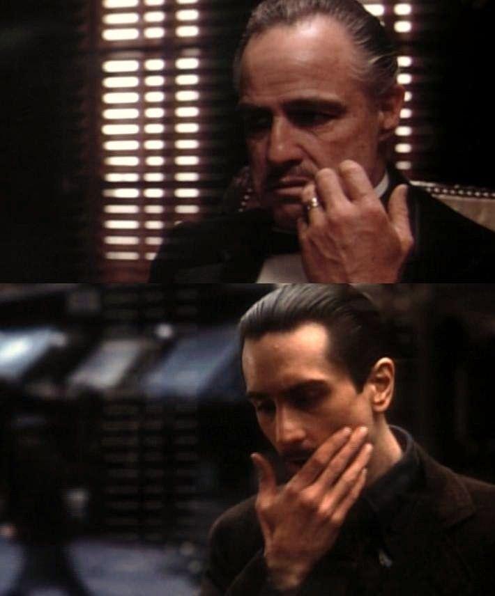 brando and deniro vito corleone godfather pinterest