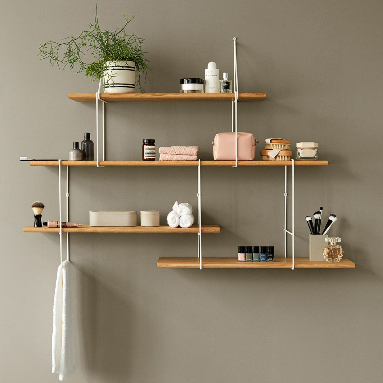 Link Shelf Setup B White Oak Studio Hausen Regalsystem
