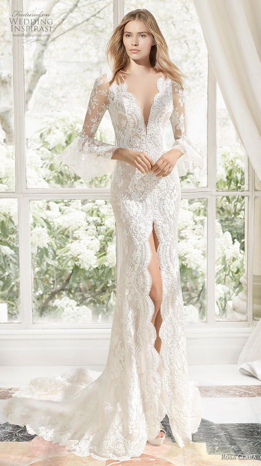 Rosa Clara Couture 2019 Wedding Dresses Wedding Inspirasi Trendy Wedding Dresses Sheer Wedding Dress Lace Mermaid Wedding Dress